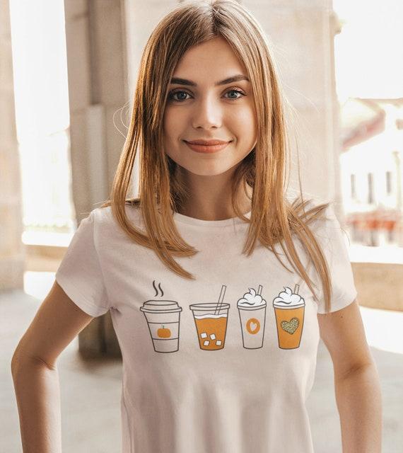 Cute Pumpkin Spice Coffee T-Shirt