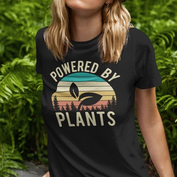 Vintage Powered By Plants Vegan T-Shirt