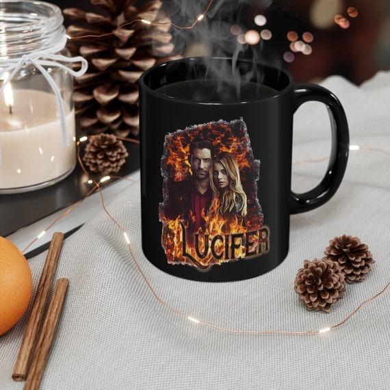 Lucifer TV Show Collection Black mug 11oz