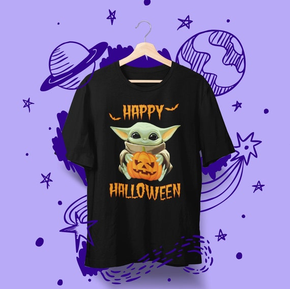 Baby Yoda Happy Halloween T-Shirt