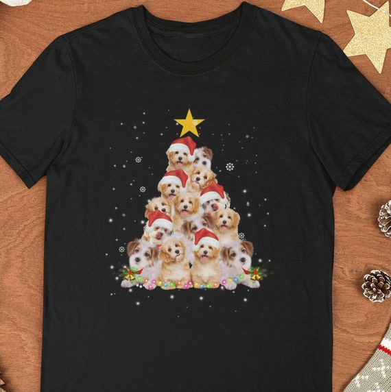 Puppies Christmas Tree Dog Lovers Christmas T-Shirt