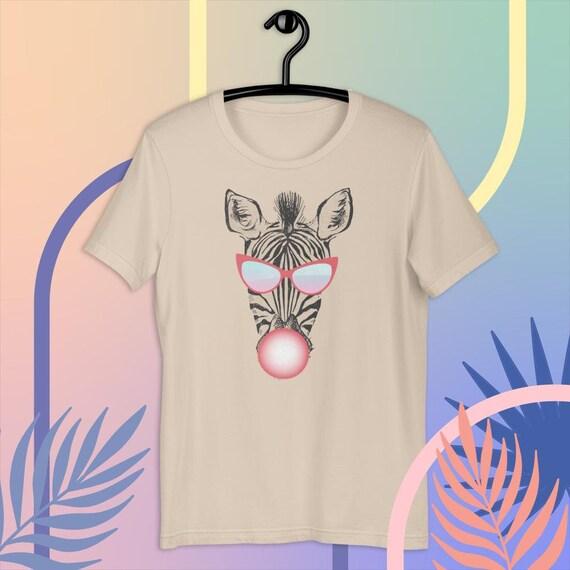 Zebra Bubble Gum T-Shirt