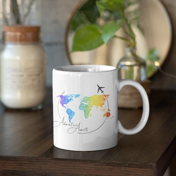 Adventure Awaits Love to Travel Mug