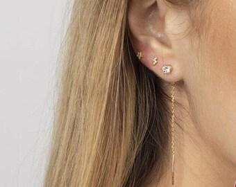 drop-out earrings gift idea earrings Zircon dying earrings party earrings
