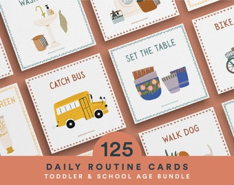 Routine Chart, Routine Checklist, Routine Cards, Daily Rhythm Cards, Daily Rhythm, Printable Routine Chart, Daily Routine for Toddlers