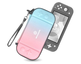 StreamLite: Ultra Slim Nintendo Switch Lite Protective Carrying Case (Cotton Candy)