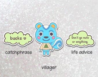 filbert vinyl sticker   laptop hydroflask water bottle decal   animal crossing pocket camp   waterproof    acnh