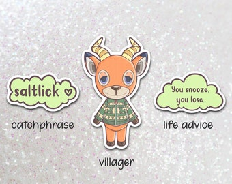 beau  vinyl sticker   laptop hydroflask water bottle decal   animal crossing pocket camp   waterproof    acnh