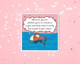 pascal mini art print   vol. 3   animal crossing quotes