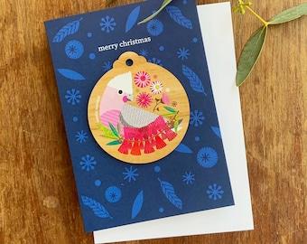 Galah Christmas Decoration Card