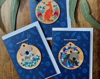 Australian Animals Christmas Card Pack