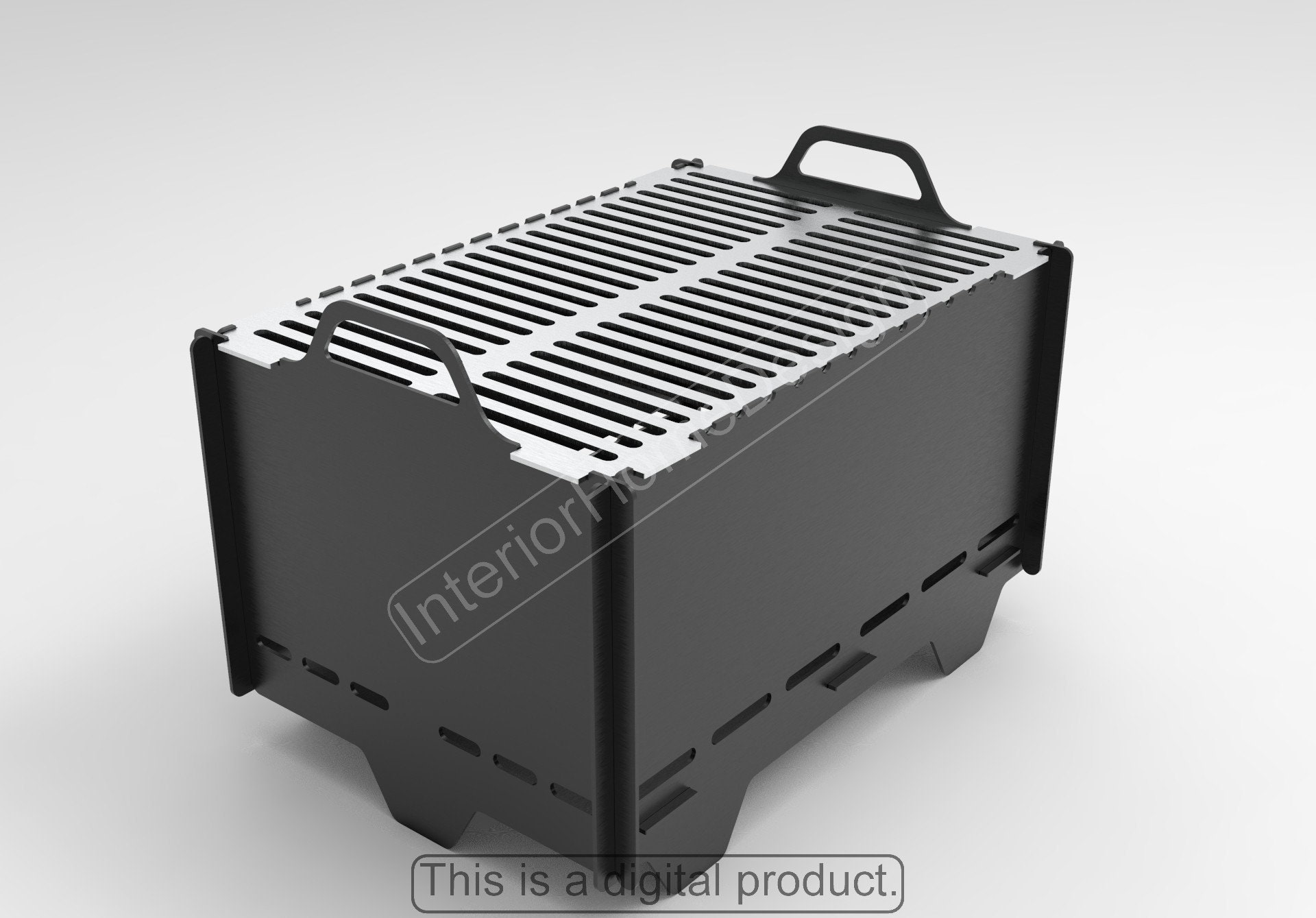 Digital product SVG for CNC Car Grill Laser files DXF Mangal Barbecue Bbq Plasma Collapsible FirePit Pickup Ram 1500 New Fire Pit