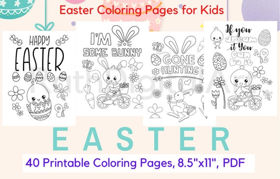Easter Coloring Pages-40 Printable Easter Coloring for Kids