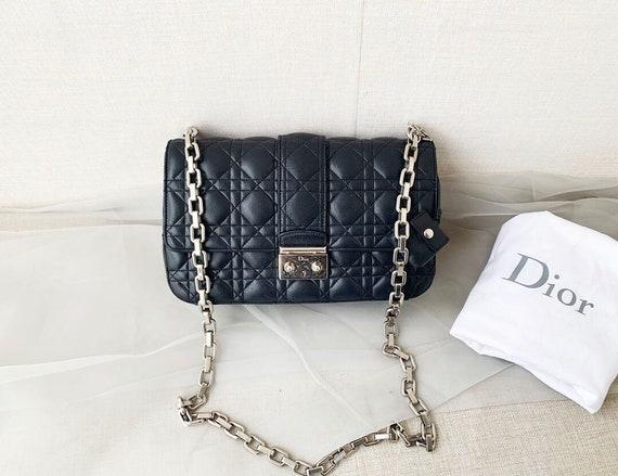 Black Dior Flap Bag