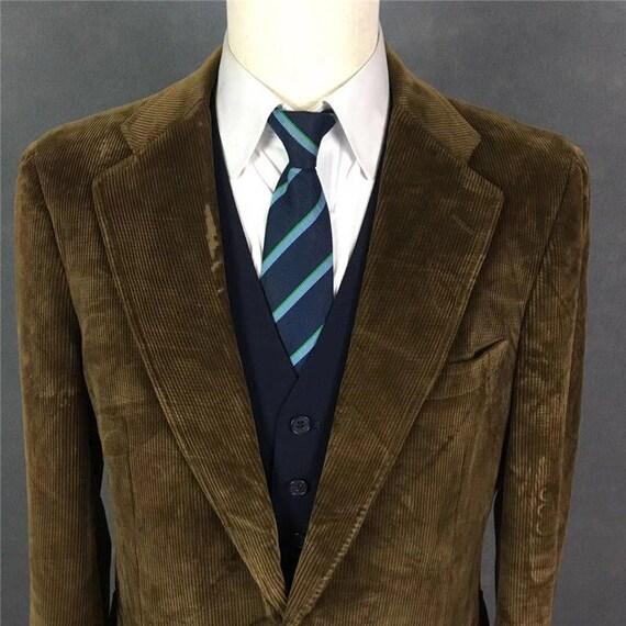Vintage Brown Brooks Brothers Corduroy Suit Blazer