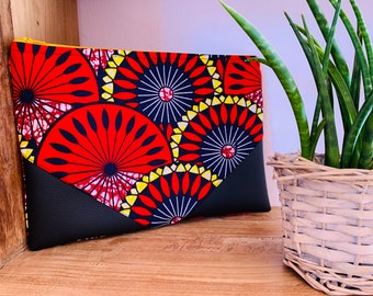 Wax lined tablet cover pocket - Similicuir