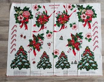 Cranston VIP Christmas Star Dust Appliques Fabric Panel