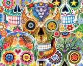 Sugar Skulls - 1000pc Jigsaw Puzzle Toys Games Gift for Birthday and Holiday - Boys, Girls, Adults