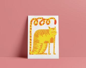 Cat Risograph