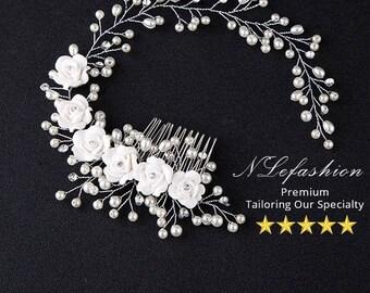 Bridal ▷ Headbands to Choose • Wedding Headband with Rhinestones & Pearls • Bridal Hair Accessories • FREE Local Pick up in Toronto, Canada