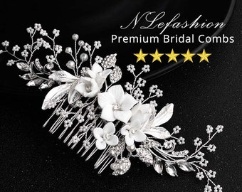 Bridal ▷ Hair Combs to Choose • Floral Bridal combs with Rhinestones • Bridal Hair Accessories • FREE Local Pick up in Toronto, Canada