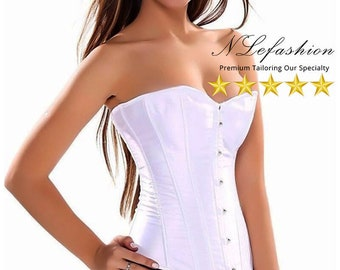 Bridal Corset ▷ White Wedding Bustier XS to 2XL• Bridal Accessories & Lingerie• Bridal Gown Wedding Corset• FREE Pick up in Toronto, Canada