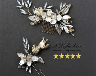 Vintage ▷ Bridal Hair Combs to Choose • Floral Wedding combs • Bridal Hair Accessories • FREE Local Pick up in Toronto, Canada