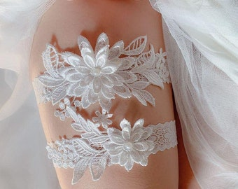 Wedding ▷ Garter • 10 Designs to Choose • Lace Tossing Garter Sets • Floral Pink & Blue Bridal Garter • Shipping from Toronto to Canada/US