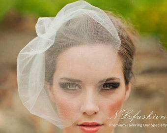Birdcage ▷ Veil • Short Tulle Wedding Veil • Simple & Elegant Design • Bridal Accessories • FREE Local Pick up in Toronto, Canada