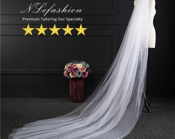 Extra Long ▷ Wedding Veils • 2 Layer Bridal Veils with Comb • White & Ivory • Up to 5m • Bridal Accessories • FREE Pick up Toronto, Canada