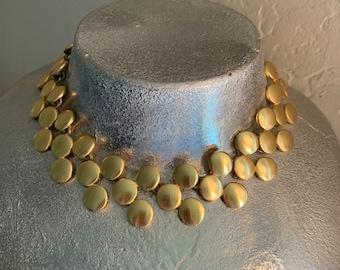 Anne Klein Vintage Brushed Gold Necklace
