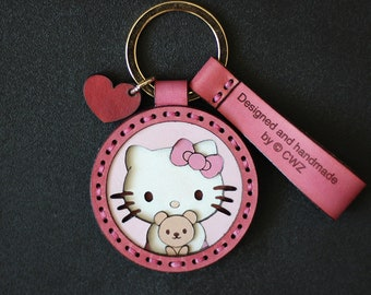 New Hello Kitty Pirate Sanrio Keychain Fob Charm!
