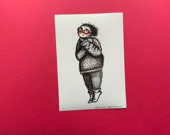 Cozy Cinderella A5 Illustrated Print | Illustration Print