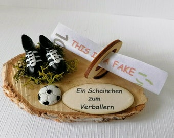 Money Gift Packaging Money Voucher Football Ticket for Verbal Learning Birthday Youth Consecration Communion Confirmation etc.