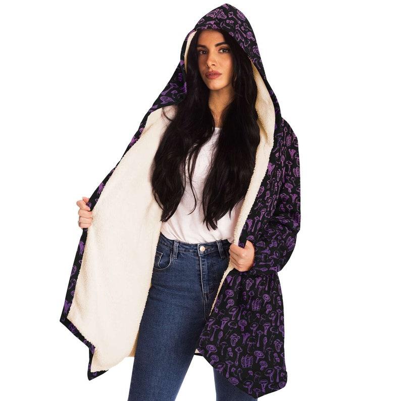 couple mushroom robe Magik Mushroom Cloak \u00b7 warm and cozy with oversized hood and pockets perfect gift for stoner