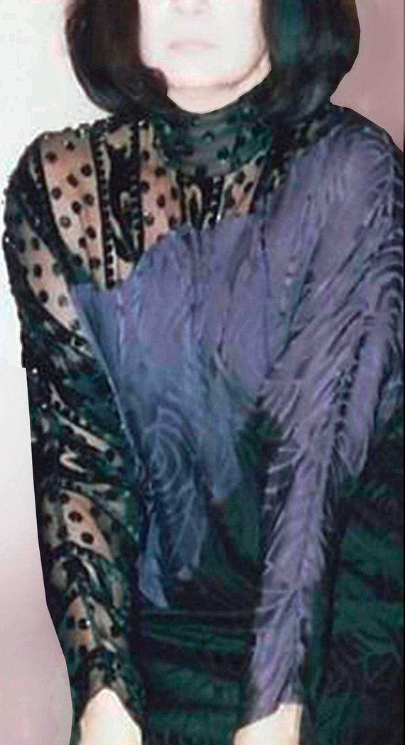 Elegant silk evening dress - image 1