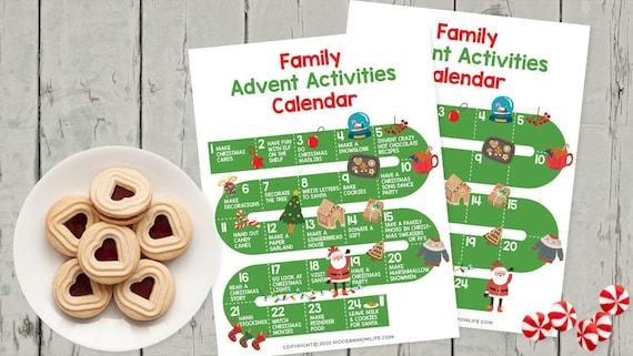 Advent Calendar Printable Activity Calendar Advent Calendar