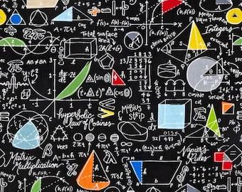FAT QUARTER Geek Mathematician Science Teacher Gray Nerd FABRIC QUILT COTTON FQ