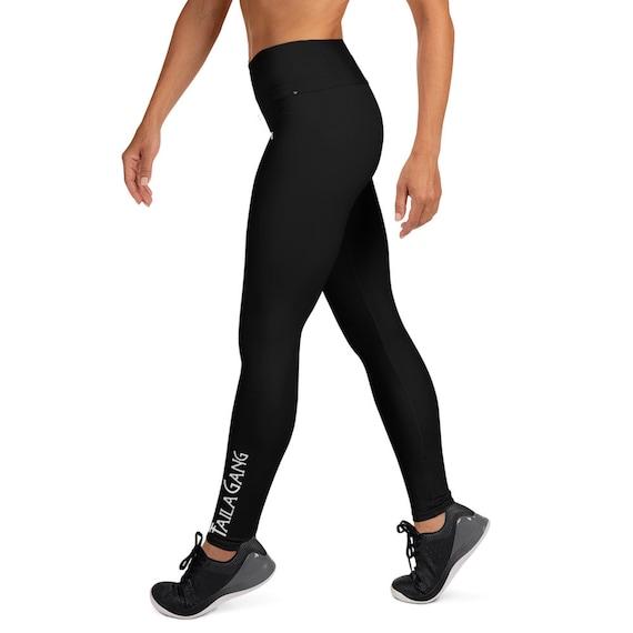 Black lesbians in yoga pants Black Tg Tailathirst Yoga Leggings Etsy