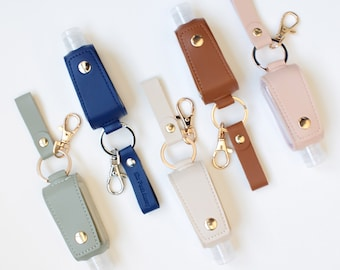 Hand Sanitizer Holder Keychain - (Buy any 5+ Save 25%) Top 2020 COVID Stocking Stuffer - Christmas Gifts