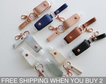 Hand Sanitizer Keychain (Buy any 5+ Save 25%) - Handsanitizer Case - Stocking Stuffers - Christmas Gifts