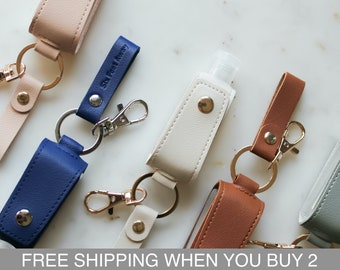 Hand Santizer Leather Case - (Buy any 5+ Save 25%) - Mini Bottle Holder - Hand Sanitizer Pouch