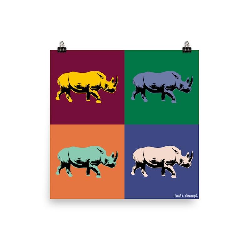 Black rhino  Poster image 0
