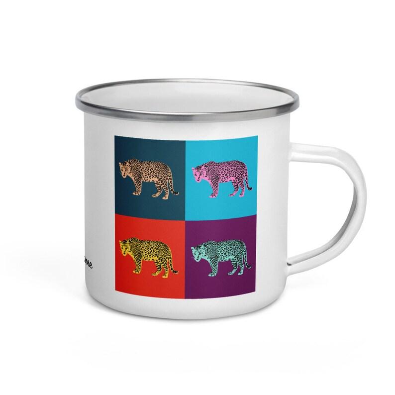 Amur leopard  camper mug image 0