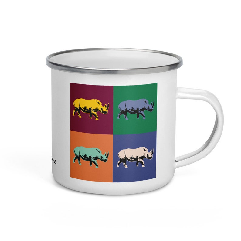 Black rhino  camper mug image 0