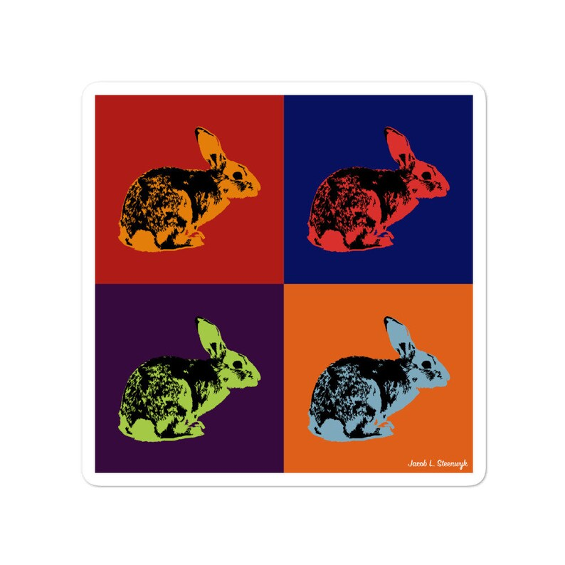 Rabbit  vinyl sticker image 0