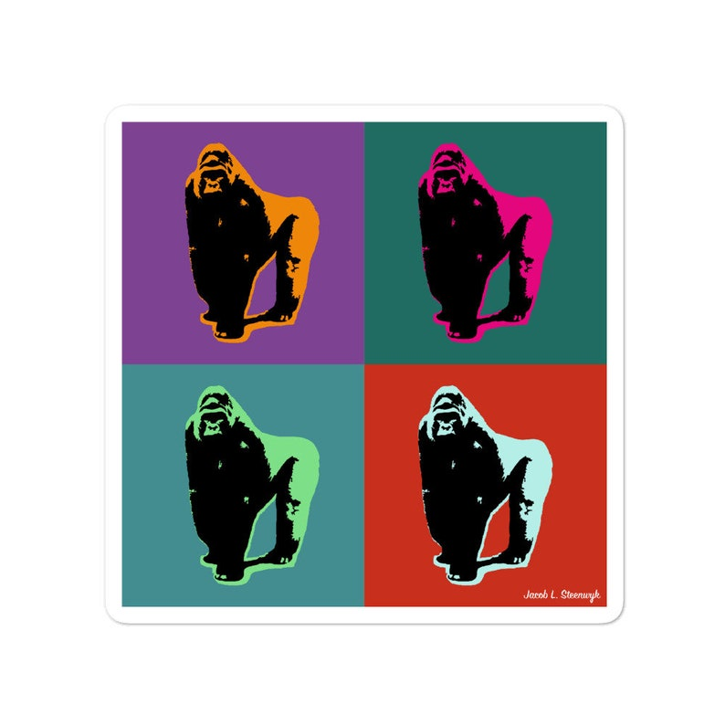 Eastern lowland gorilla  vinyl stickers image 0