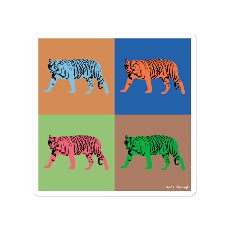 Sunda tiger  vinyl sticker image 1
