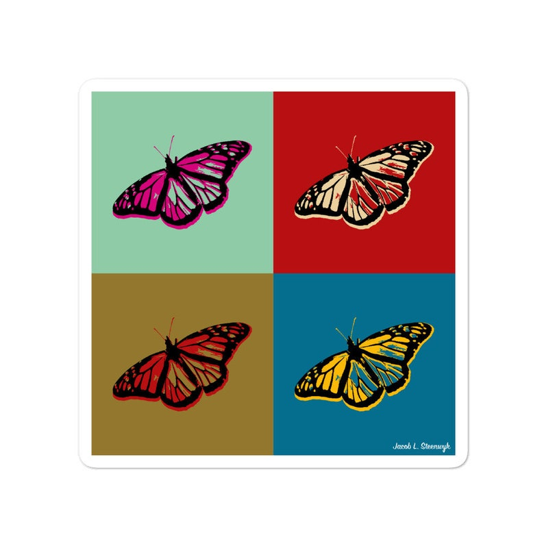 Monarch butterfly  vinyl sticker image 0