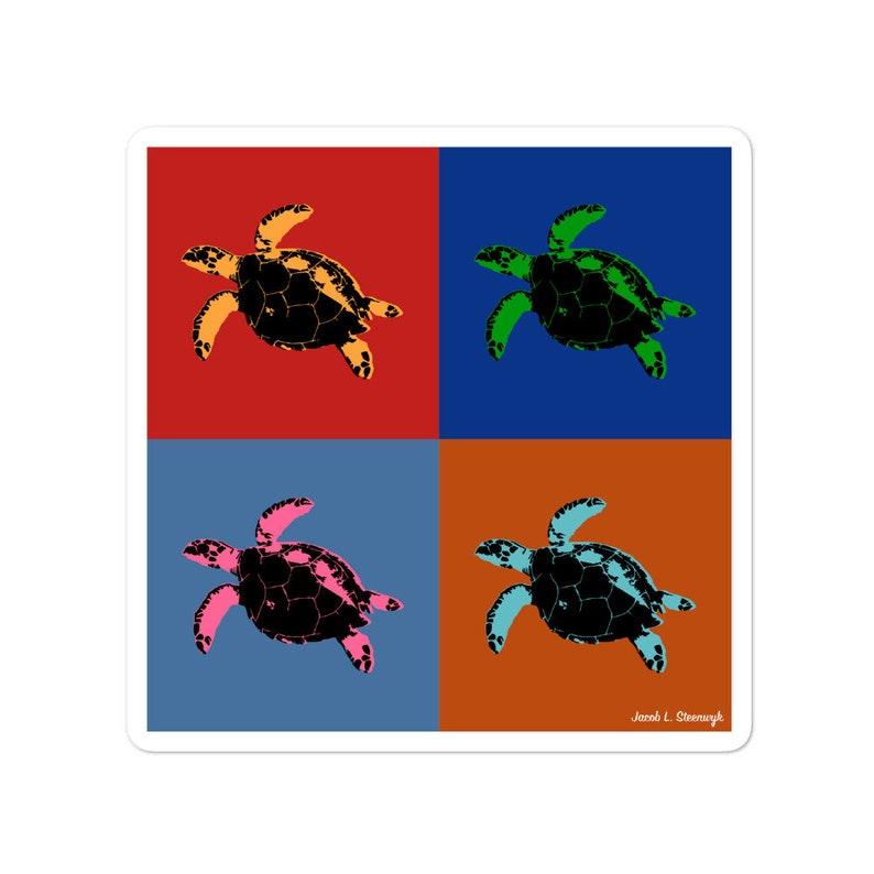 Hawksbill turtle  vinyl sticker image 0